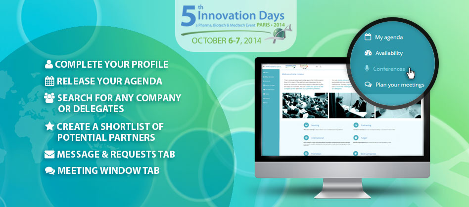 New Online Partnering Platform for the Innovation Days 2014