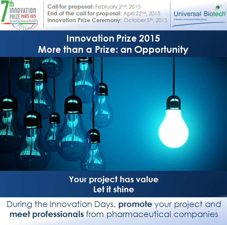 Innovation Prize 2015. More than a Prize : an Opportunity