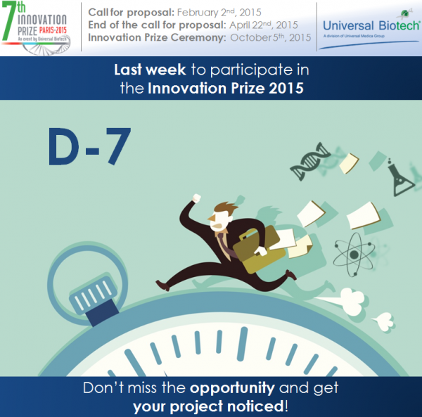 Innovation Prize 2015: Last Week to Subscribe!
