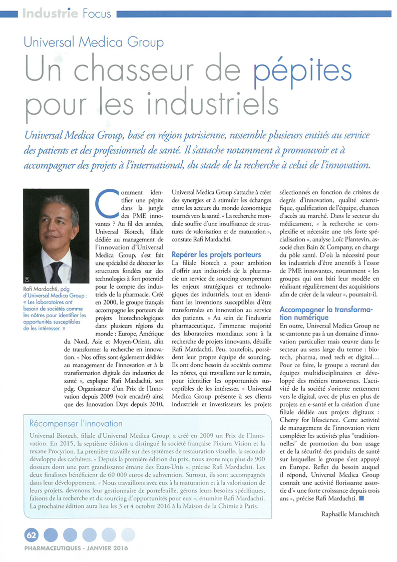 Article Pharmaceutiques FEV2016